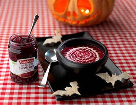 Halloween beetroot soup