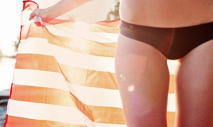Waxing bikini lines